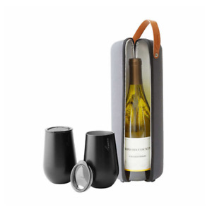 Rabbit Wine Tote and Tumbler 3-piece To Go Set - insulated to keep wine cool