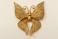 Beautiful Vintage Signed NAPIER Goldtone BUTTERFLY Brooch Pin G*