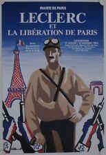 Affiche LECLERC Libération Paris 1984 Exposition - illustr. VILLEMOT