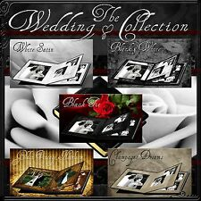 Digital Wedding Albums Multi Layered Templates Photography Backgrounds 4 DVD's1F
