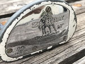 RAM Zebra Face Balanced White Putter Steel Golf Club. RH steel shaft