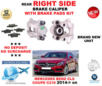 FOR MERCEDES CLS250 BLUETEC C218 2014->NEW REAR RIGHT BRAKE CALIPER + PADS SET