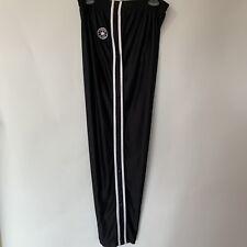 919da9ba1fd Converse Black   White Tear Away Snap Button Side Warm-Up Pants Sz. XL