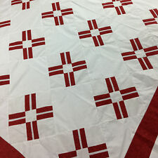 Red and White - Red Cross variation QUILT TOP - Great Look