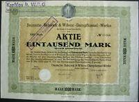 Deutsche Babcock & Wilcox AG Berlin Aktie 1922 Oberhausen Gleiwitz Voerde