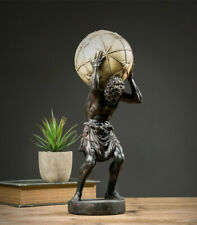 Resin Atlas Globe Greek Mythology Titan Sculpture Home Decoration Vintage Statue