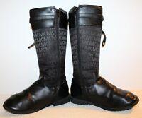 MICHAEL KORS RANEE-DD Girls Size 2 Black Size Zip Adjustable Strap Boots 12 Pics