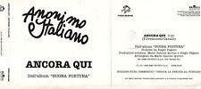 ANONIMO ITALIANO CD single PROMO 1 traccia ANCORA QUI 1996