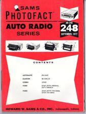 Sams Photofact-Auto Radio Manual/#AR-248/First Edition-First Print/1977