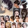 Tiara Haarschmuck Diadem Krone Silber Strass Haarreifen Braut Hochzeit Reifen