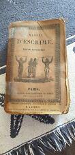 NOUVEAU MANUEL COMPLET D ESCRIME PAR M LAFAUGERE ENCYCLOPÉDIQUE DE RORET EO 1838