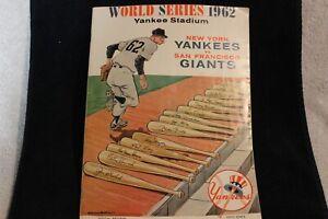 1962 WORLD SERIES PROGRAM N Y YANKEES vs. San FRANCISCO GIANTS  YANKEE STADIUM