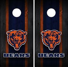 Chicago Bears Cornhole Wrap Decal Stickers Vinyl Gameboard Skin Set JC058