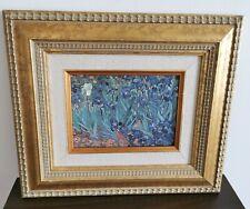 "Framed, Irises By Vincent van Gogh, Custom Framed Print, 13x11.5"""