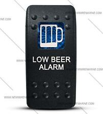 Labeled Contura II Rocker Switch Cover ONLY, Low Beer (Blue Window)