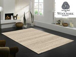 ORGANICAL PURE moderner Woll Teppich Wollsiegel in natur, viele Größen