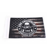 American Flag + U.S. Navy Flag GUAIMI License Plate Mounted Double Flag Holder Double Motorcycle Flags