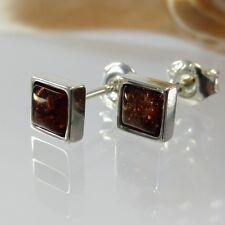 A244 Ohrringe Earrings baltischer Bernstein 925 Sterling Silber Schmuck Amber