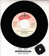 "BANANARAMA Shy Boy & Cruel Summer 7"" 45 rpm record NEW + jukebox title strip"
