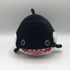 "Smiling Killer Whale Orca Plush 9"" Black White"