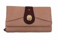 """BOC Born Concept Womens Wallet Camel Brown Zipper Snap Closures 8"""" x 4"""" x 2"""""""