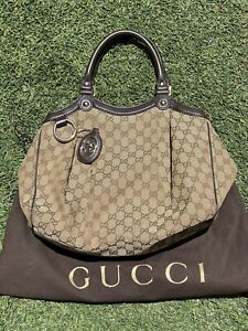 Gucci Sukey Tote Bag/Purse. Medium. Canvas. Womens. Used. Authentic.