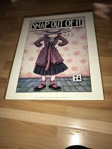 "MARY ENGELBREIT ME VINTAGE 1989  POSTER "" SNAP OUT OF IT "" 16"" X 20"" NIP"