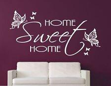 Wandtattoo Wandaufkleber Aufkleber Herzlich Willkommen Hause Home Sweet Home W24