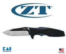 """Zero Tolerance ZT 0393 Knife 3.6"""" CPM 20CV Blade Titanium Blue Anodized Handle"""