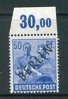 Berlin Mi-Nr. 13 P OR ndgz - Oberrand ** Hans-Dieter Schlegel BPP - Mi. 60,-