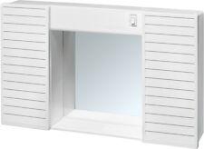SPECCHIERA SPECCHIO PER BAGNO 2 ANTE IN PVC LUCE E INTERRUTTORE 58x37X12 SIMPATY