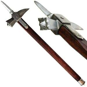 Medieval Warrior  Functional Spiked Lucerne War Hammer
