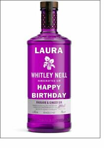PERSONALISED GIN BOTTLE CAKE TOPPER - VARIOUS BRANDS & FLAVOURS - A4 ICING