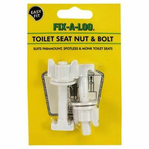 Fix-A-Loo Toilet Seat Nuts & Bolts 2Pcs – suits Paramount, Spotless & Monk