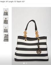 New women bag strips black & white