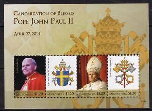 Micronesia - Pope John Paul II - stamps Timbres Briefmarken MNH** CB1