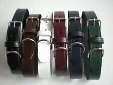 Real leather dog collars 7 colours available slight seconds 25 mm