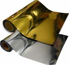 "10 YD METALLIC SILVER  10 YARDS GOLD Heat press TRANSFER vinyl SISER 20"" x12"""