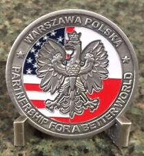 Authentic and HTF  Warsaw Poland CIA Station Challenge Coin