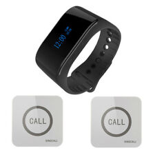 SINGCALL Wireless Service Calling System 1 Waterproof Watch, 2 Touchable Bells