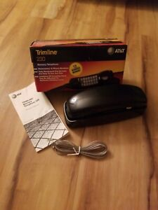 Vintage AT&T Black 230 Trimline Memory Telephone  Box ,manual missing 1 Cord