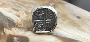 ATOCHA Coin Ring Mens Sterling Silver Sunken Treasure Shipwreck Coin Jewelry
