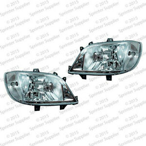 POWER HEADLIGHT PAIR for Dodge Mercedes Sprinter LH + RH SET fits 1995 - 2006