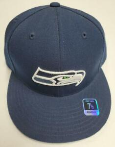Seattle Seahawks NEW Fitted Official NFL Reebok Hat 7 1/2