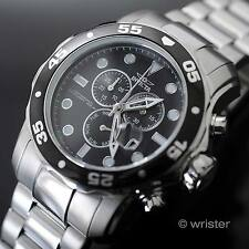Men's Invicta Pro Diver Stainless Steel Swiss Parts Black Dial 48.8mm Mens Watch