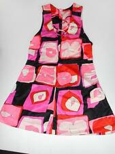 Cute Waltah Clarks Abstract Yound Girls Dress - Pink Orange Black