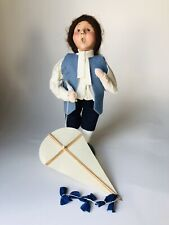 Byers Choice 2000 LE Colonial Williamsburg Boy with Kite Blue Vest Knickers
