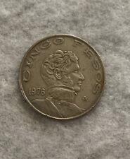 1976 Mexico Cinco Five Peso Coin