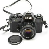 RICOH KR-5 SLR 35MM CAMERA WITH RICONAR LENS 55mm f/2.2 c.1979-80