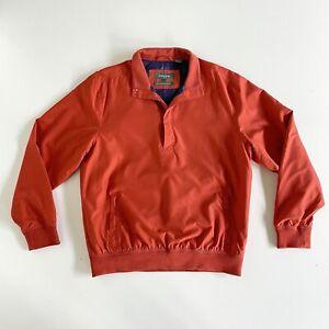 Bobby Jones Men's Collection Water Resistant Silk Golf Jacket Orange/Blue Size L